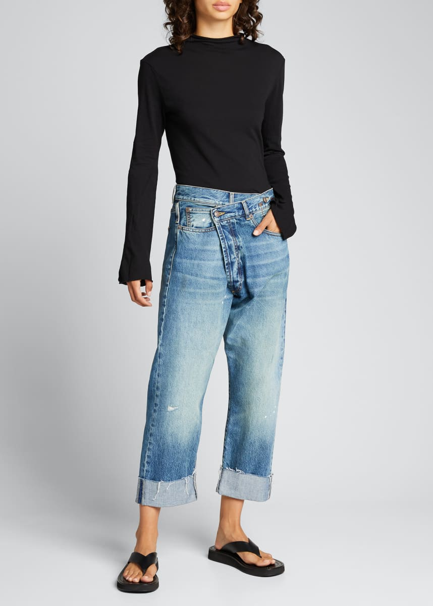 R13 Crossover Cuffed Jeans