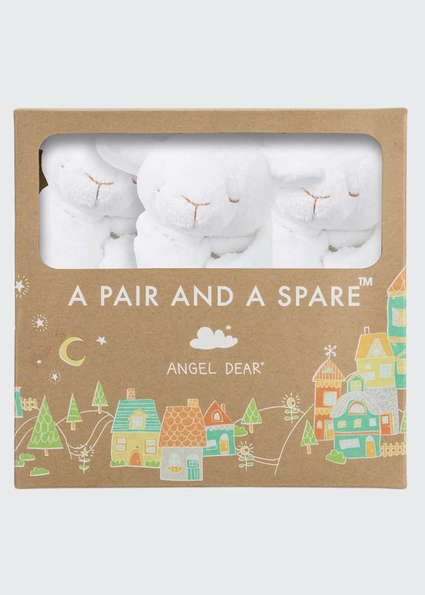 Angel Dear White Lamb Blankies 3-Pack