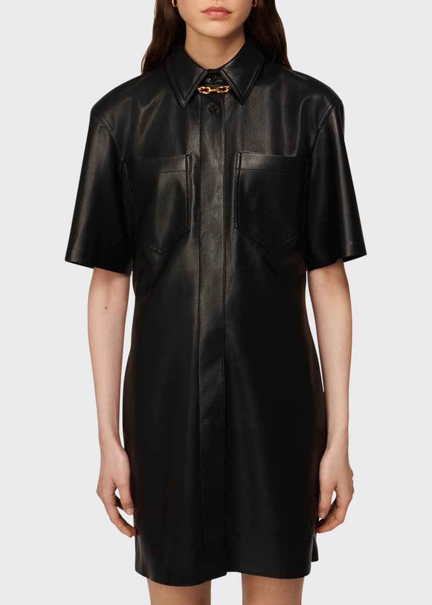 Nanushka Berto Vegan Leather Mini Dress