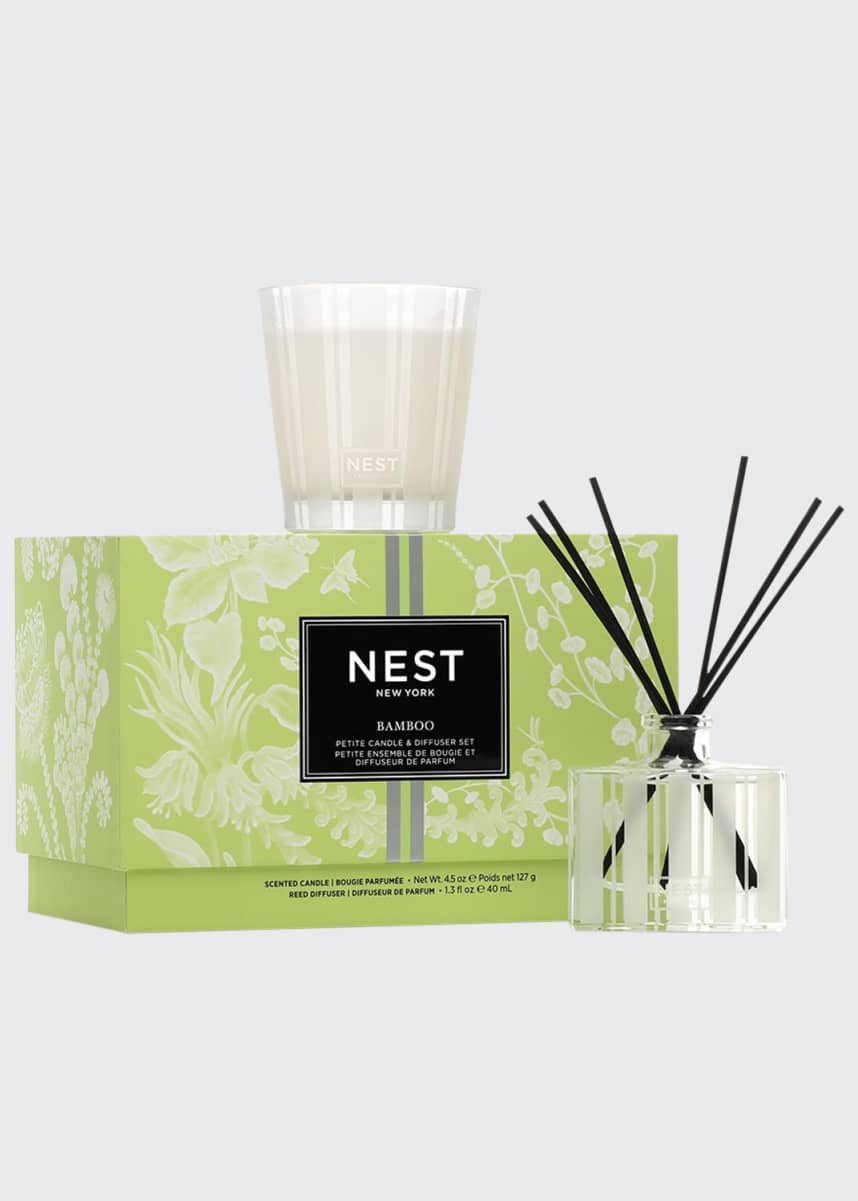 Nest Fragrances Bamboo Petite Candle & Diffuser Set