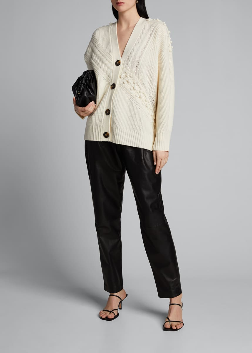Loulou Studio Wool-Cashmere Chunky Knit Cardigan