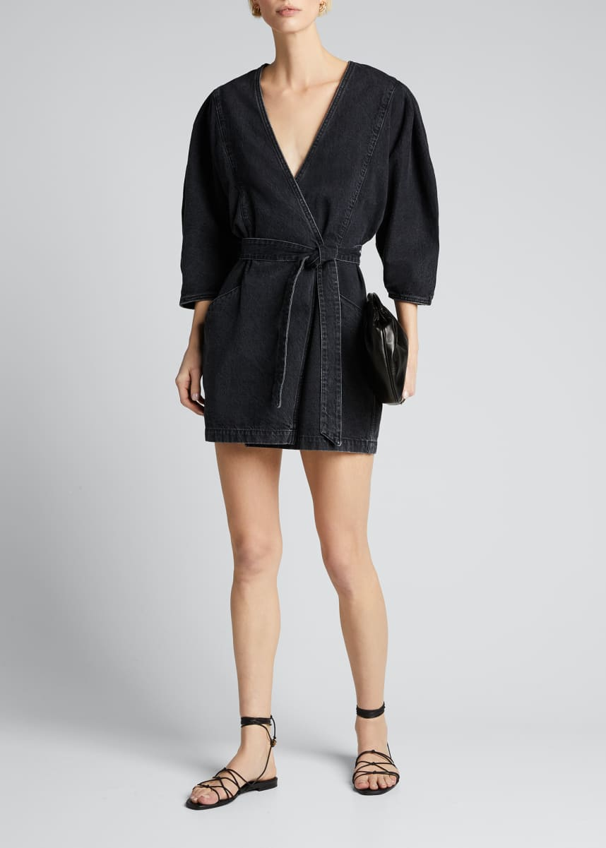 Iro Fairlie Denim Wrap Dress