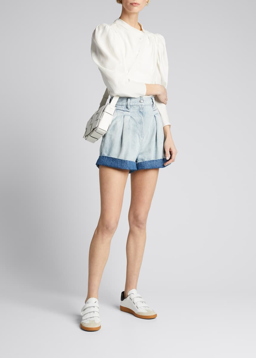 Iro Fintry Cuffed Denim Shorts