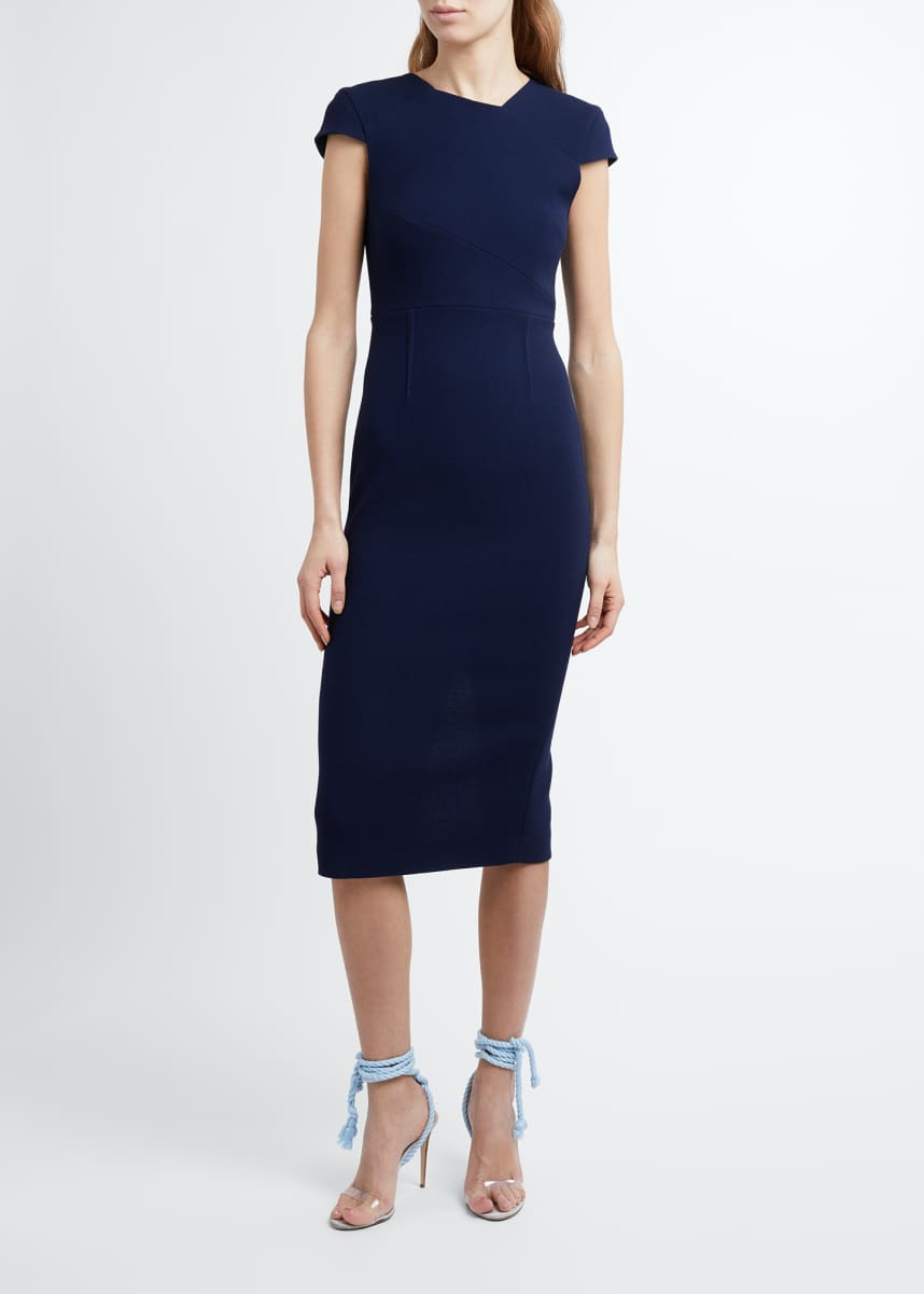 Roland Mouret Ayers Double Wool Crepe Sheath Dress