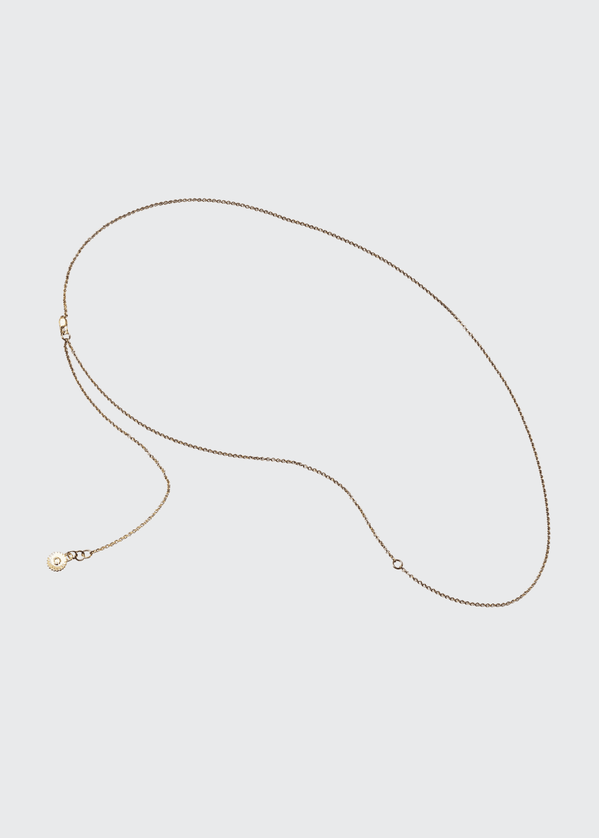 Veronique Gabai Thin Gold Vermeil Thread Chain, 28""