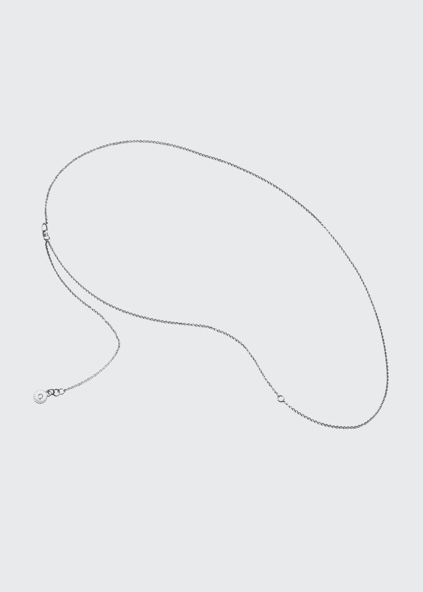 Veronique Gabai Thin Silver Thread Chain, 28""
