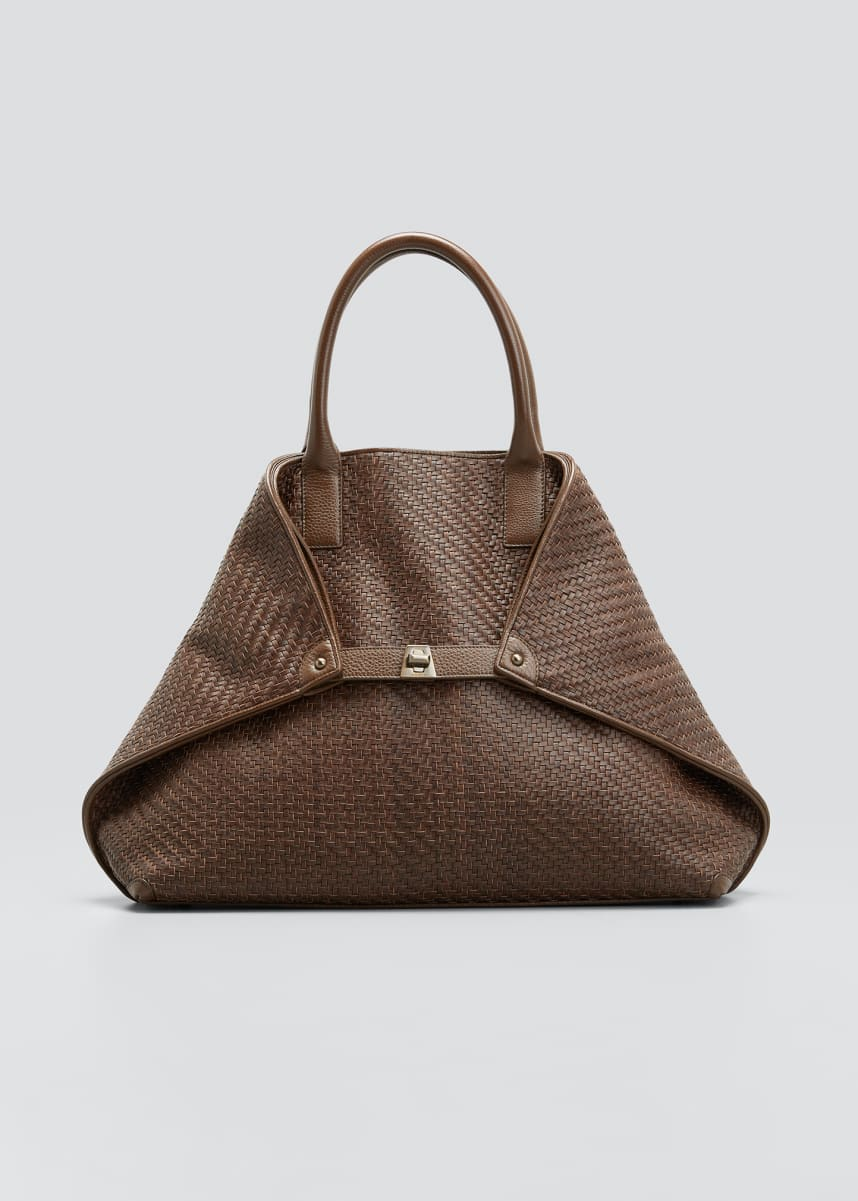 Akris AI Medium Woven Tote Bag