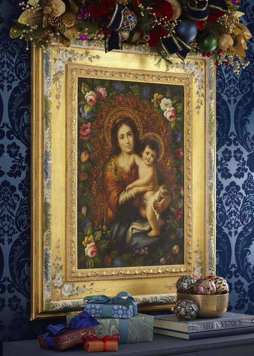 Selli Gabriello Madonna with Child in Decorative Frame
