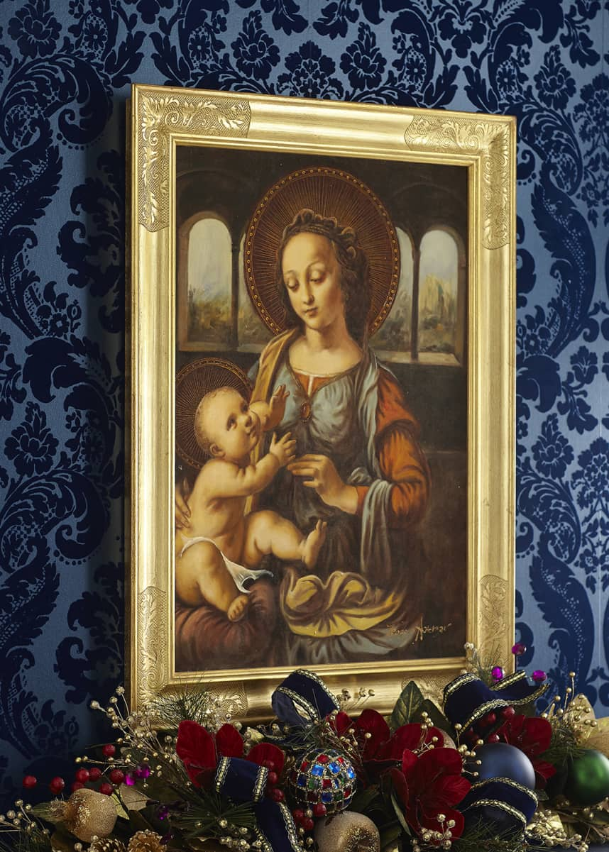 Selli Gabriello Madonna with Child in Gold Frame