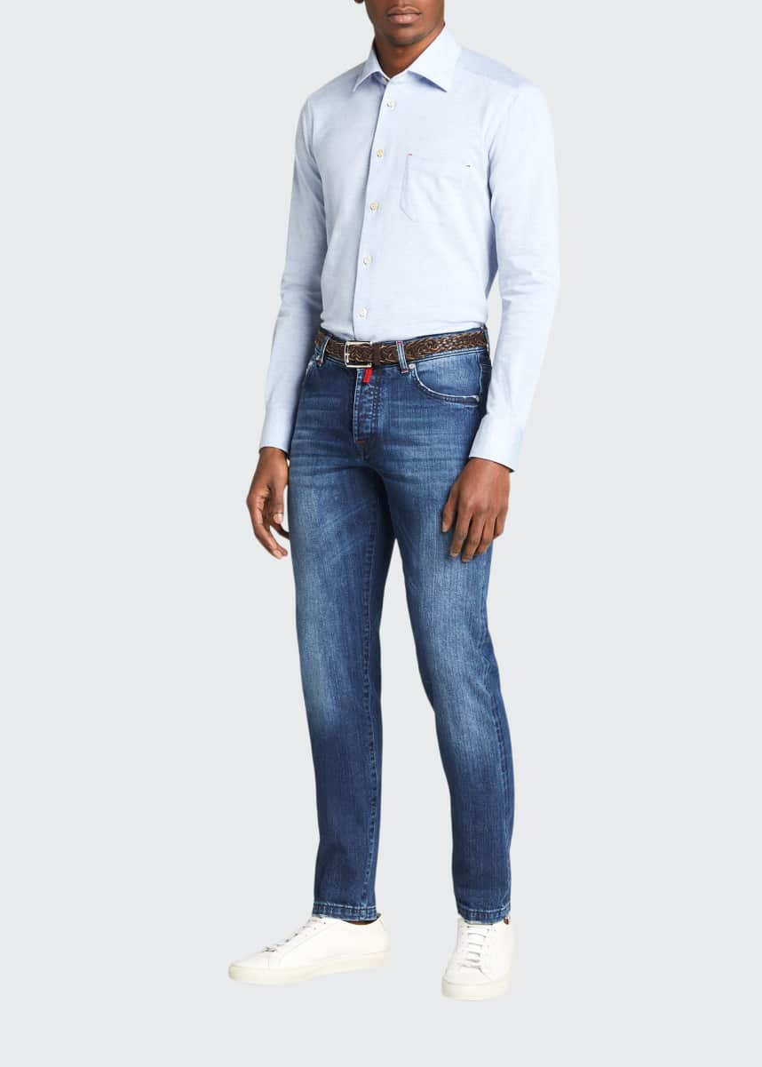 Kiton Men's Medium-Wash Straight-Leg Jeans