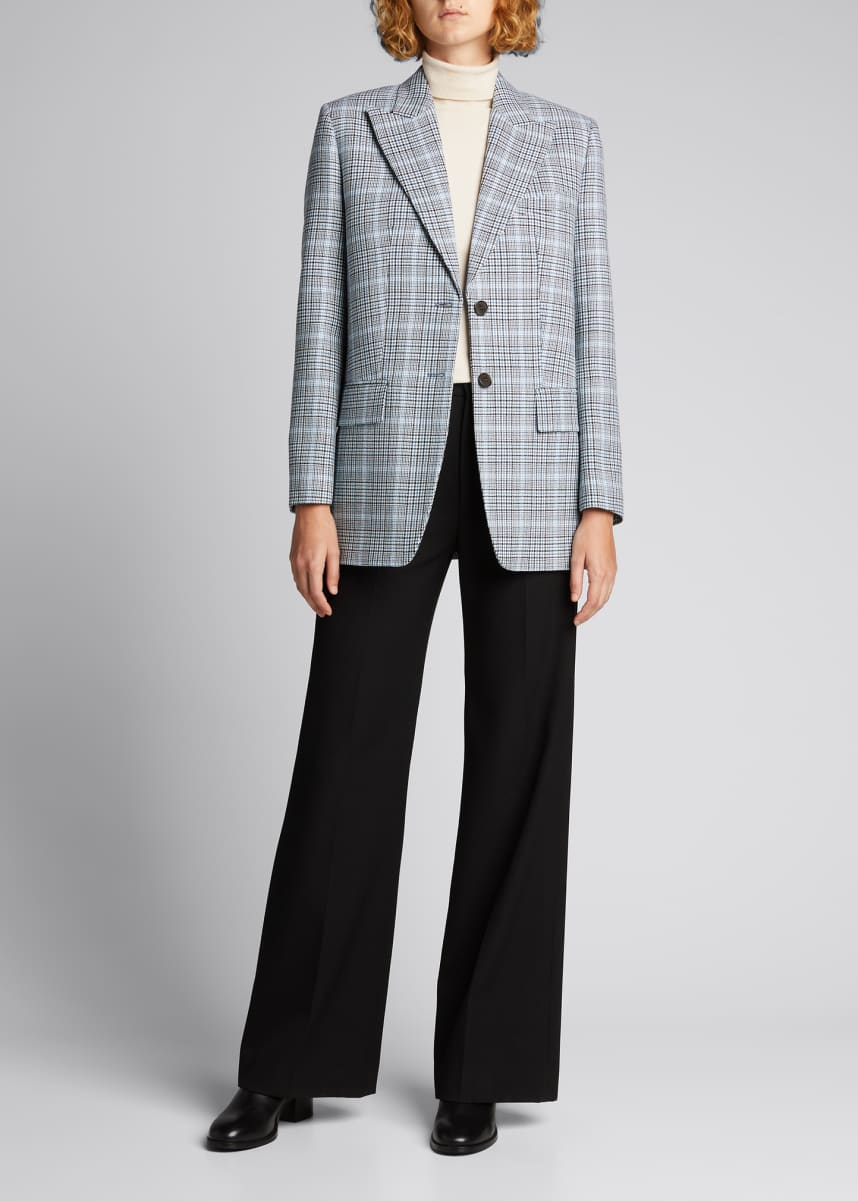 Michael Kors Collection Printed Wool Boyfriend Blazer