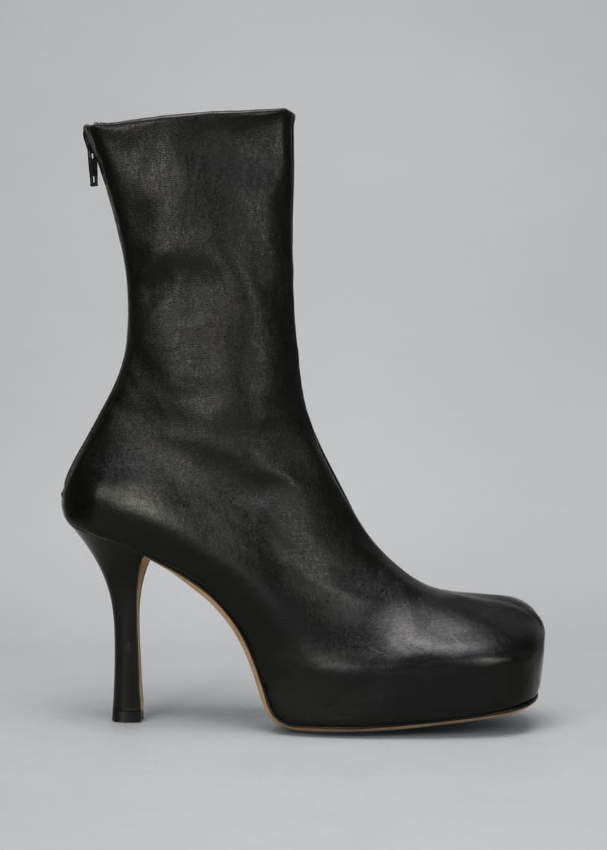 Bottega Veneta Wave 105mm Platform Stretch Leather Booties