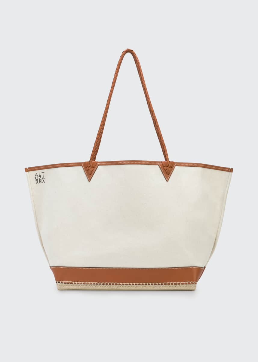 Altuzarra Large Canvas Espadrille Tote Bag