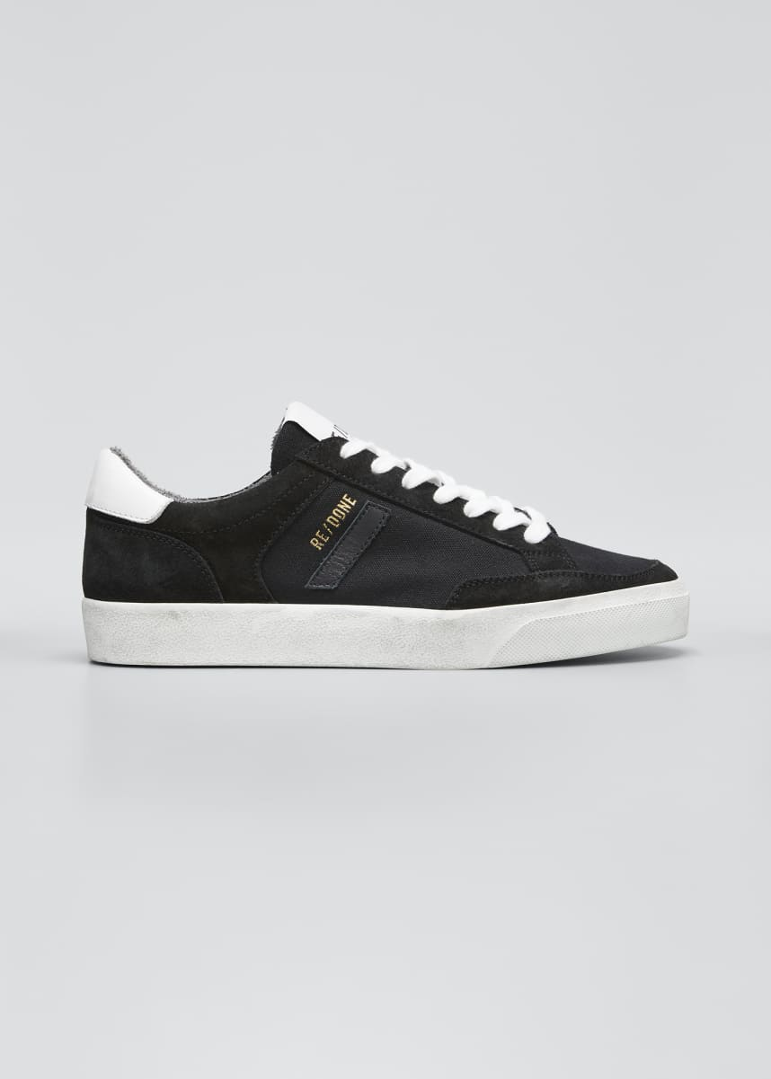 RE/DONE Suede Low-Top 90s Skate Sneakers