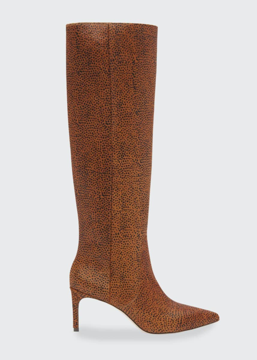 Ulla Johnson Jett 70mm Cheetah-Print Knee Boots