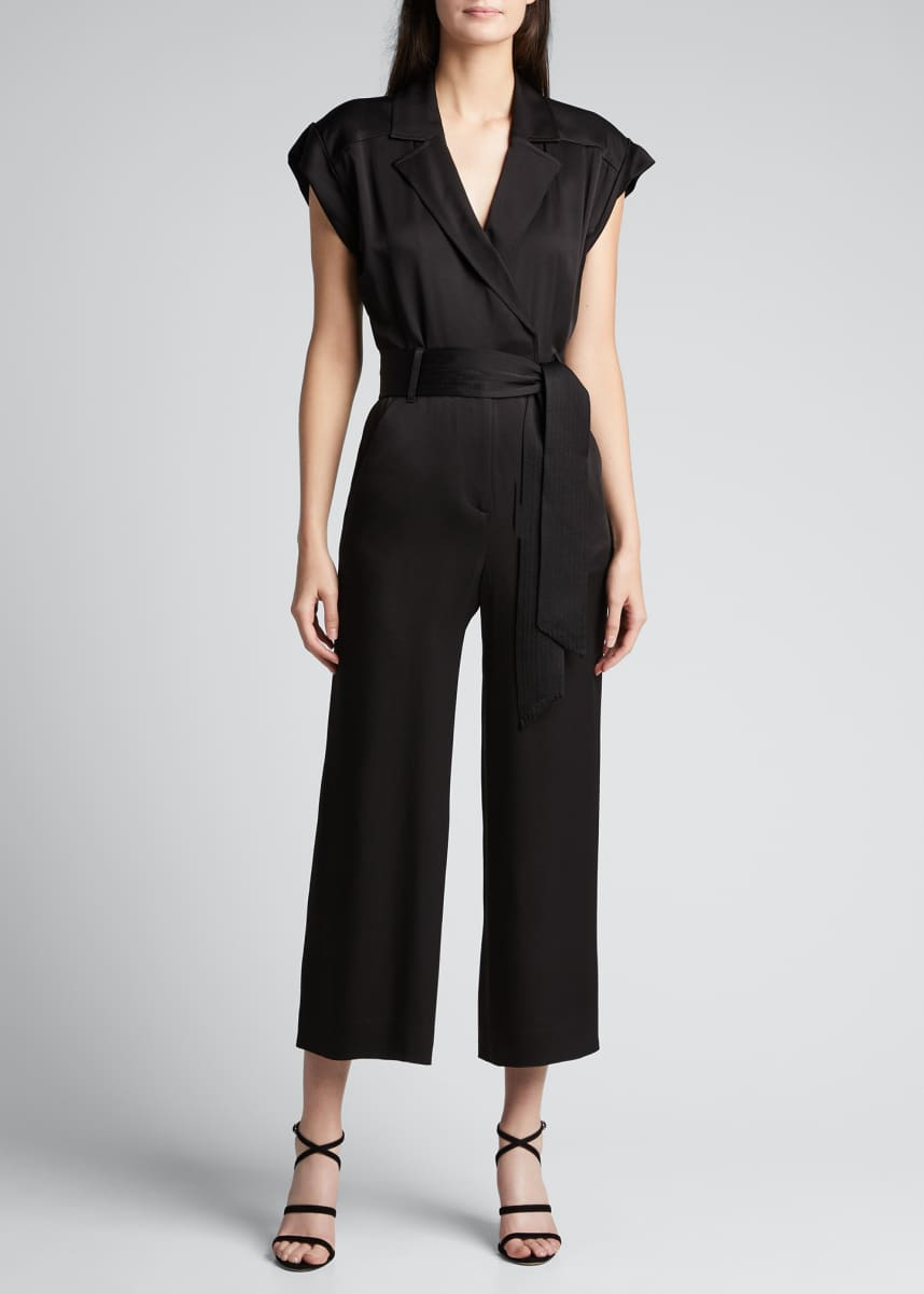 Veronica Beard Ophelia Collared Jumpsuit