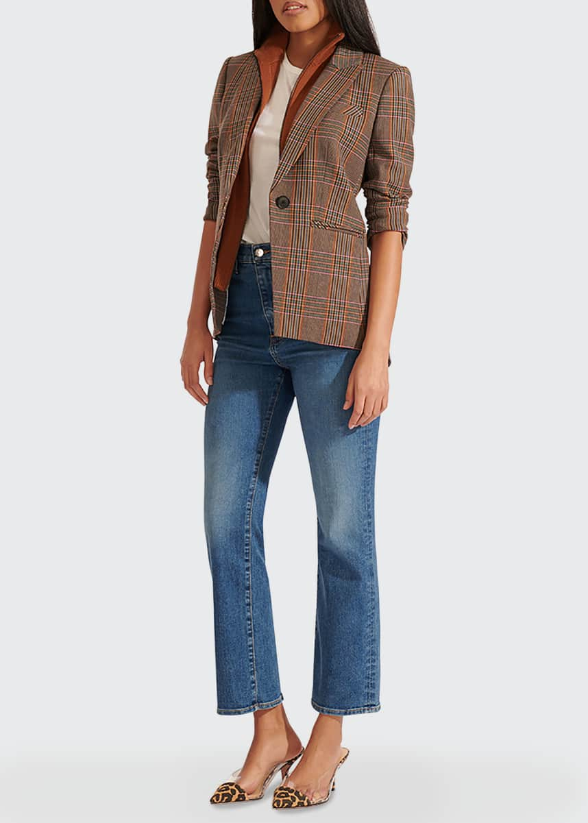Veronica Beard Uptown Wool-Cashmere Ribbed Dickey with Cuffs