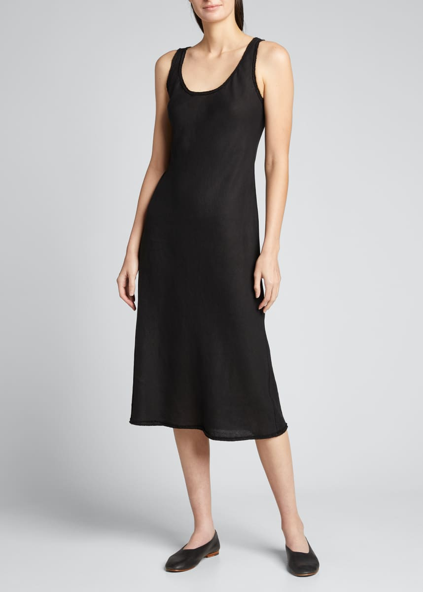 Theory Spring Linen Scoop-Neck Tank Dress