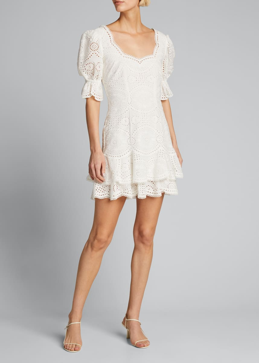 Jonathan Simkhai Meg Broderie Anglaise Mini Dress