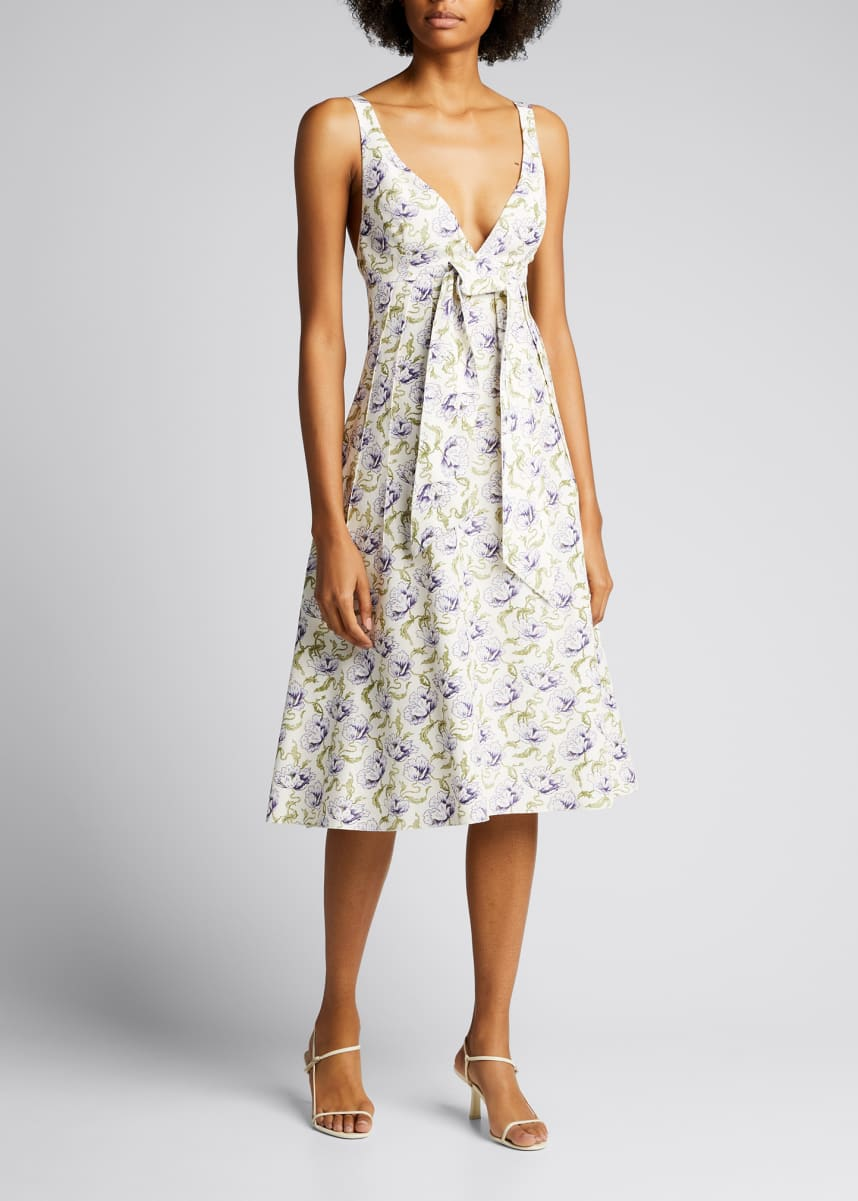Brock Collection Floral-Print Cotton-Blend Dress