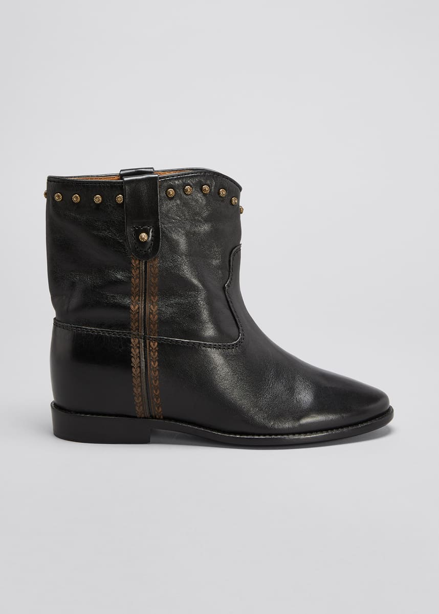 Isabel Marant Cluster Leather Western Booties