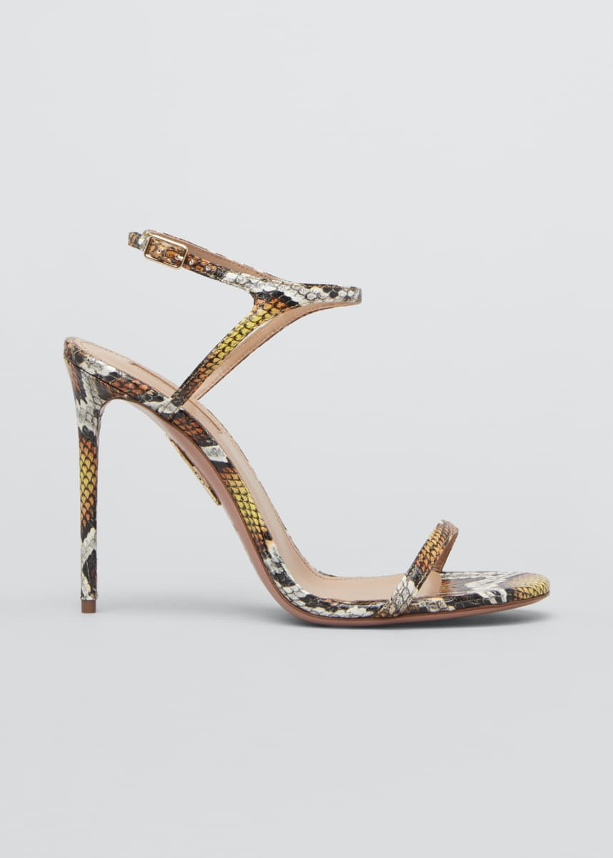 Aquazzura Naked 105mm Snake Sandals