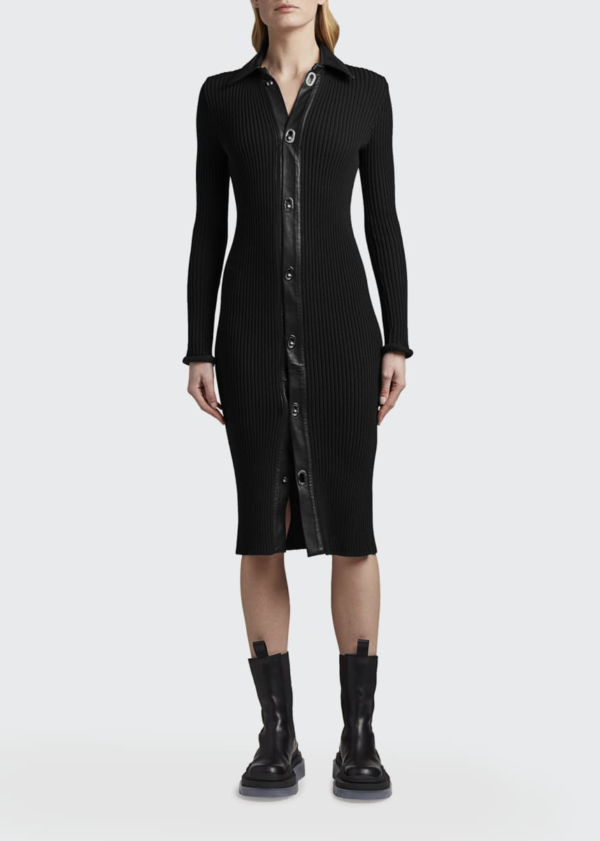 Bottega Veneta Ribbed Wool Sweater Dress