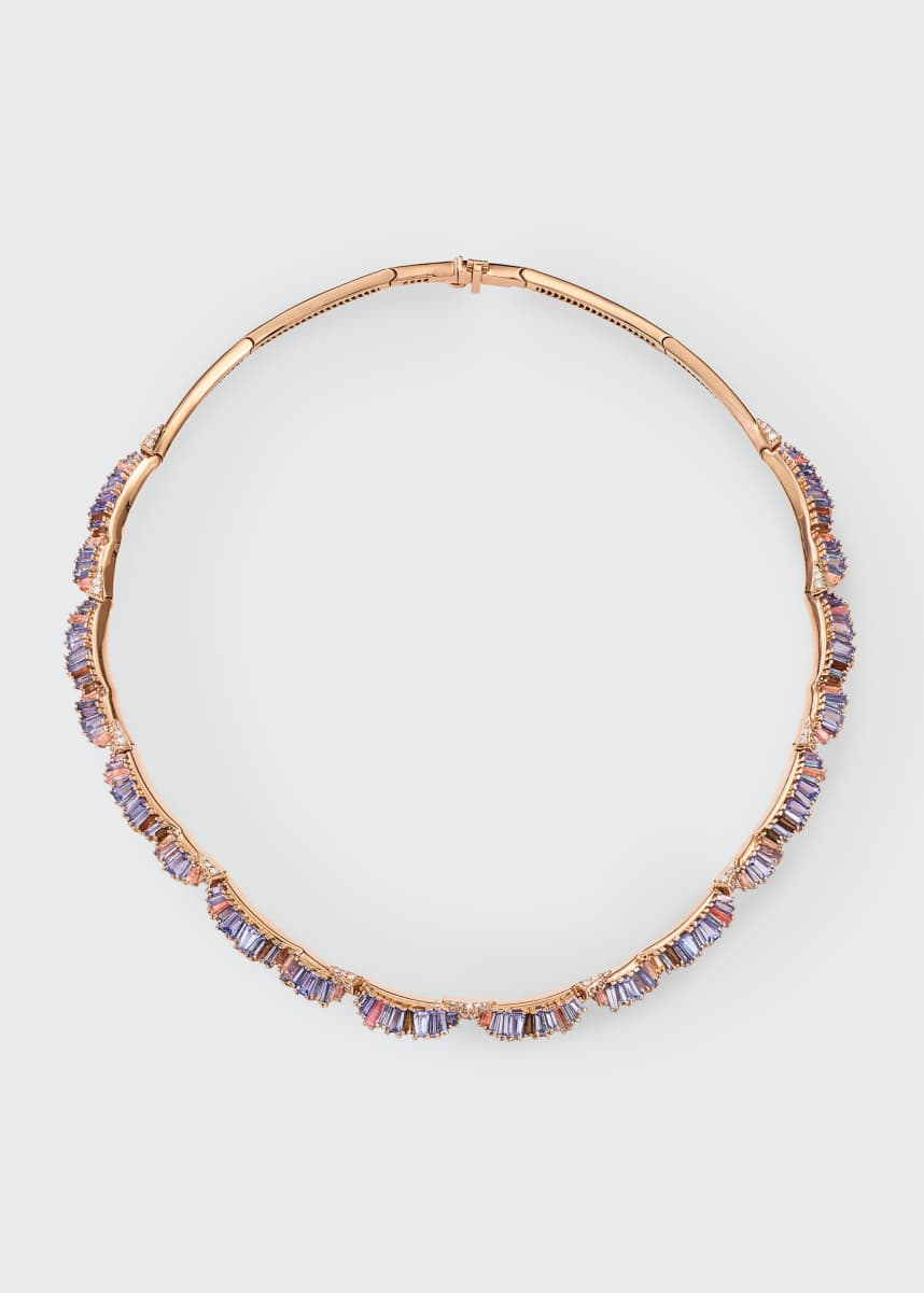 Nak Armstrong Ruched Multi-Stone Necklace