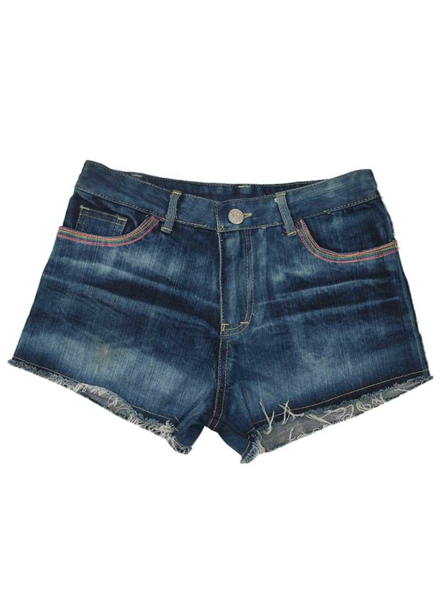 Flowers by Zoe Girl's Heart Patch Denim Shorts, S-XL