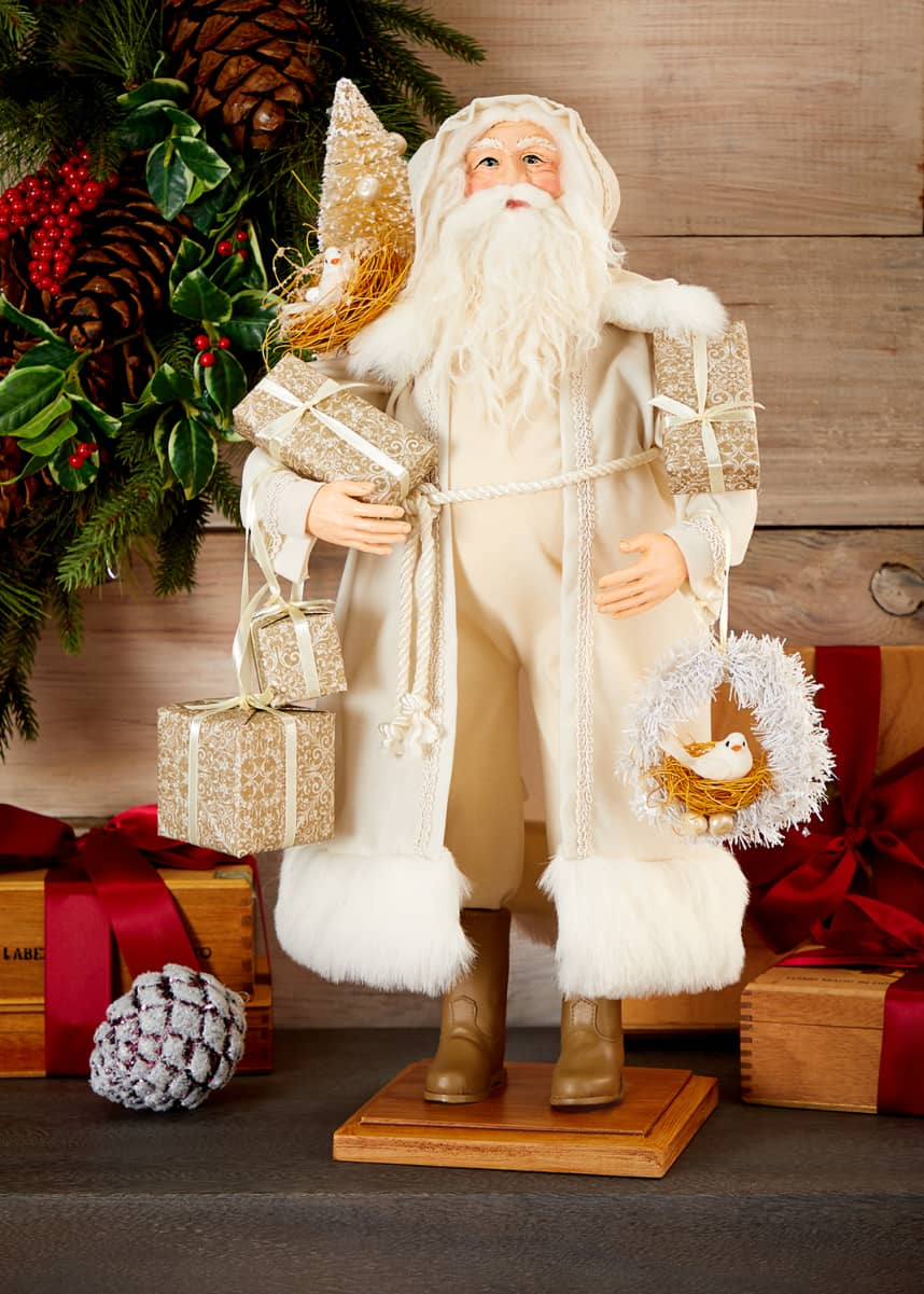 Lynn Haney Winter White Santa