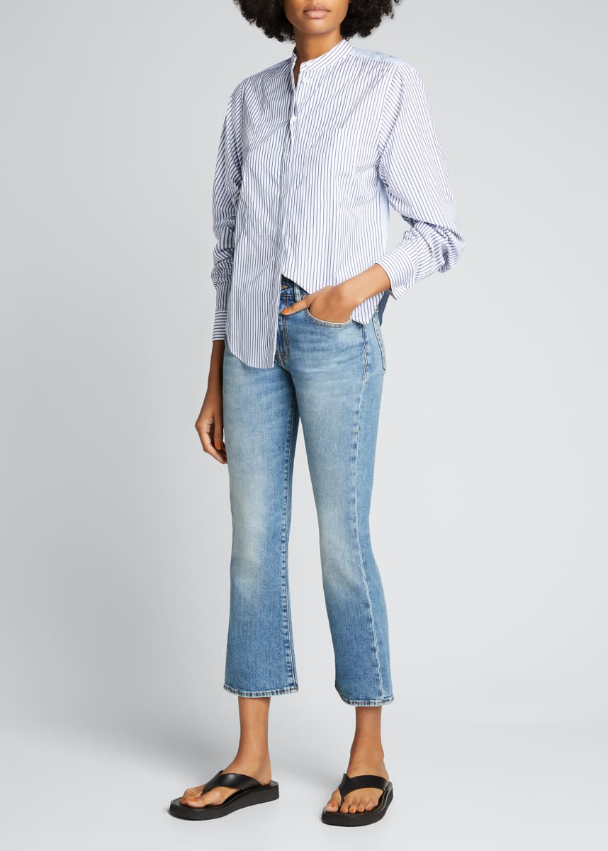 R13 Kick Fit Cropped Semi-Flare Jeans