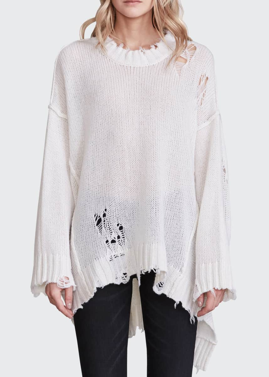 R13 Patti Cashmere Distressed Sweater
