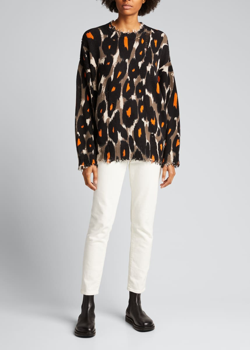 R13 Leopard Oversized Sweater
