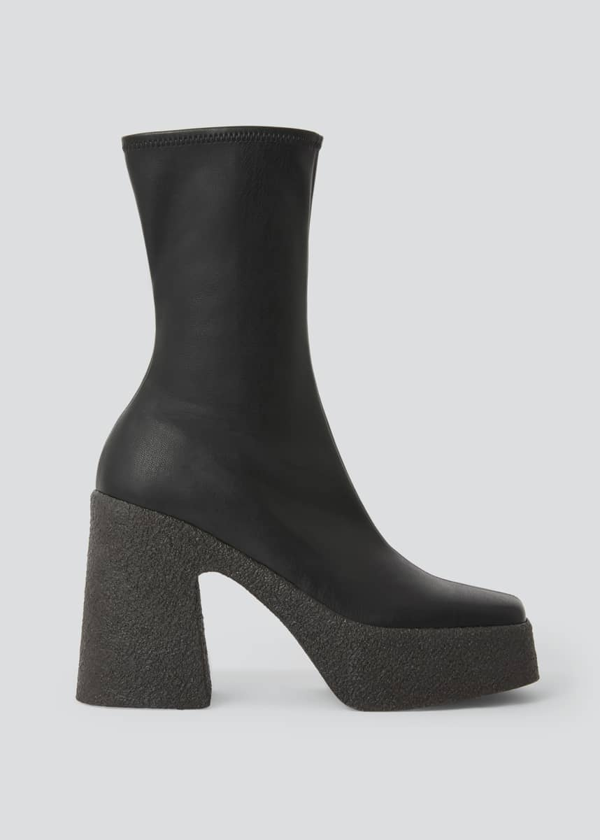 Stella McCartney Square-Toe Platform Booties