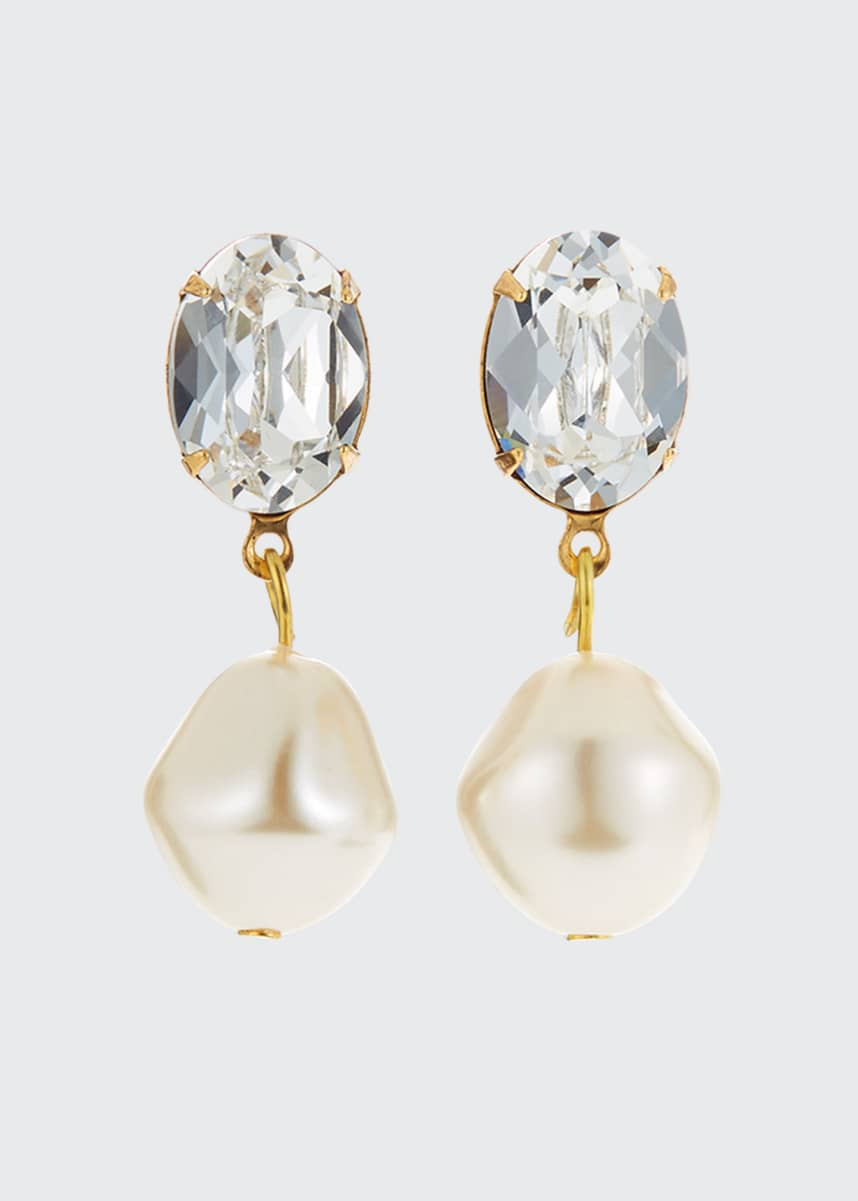 Jennifer Behr Tunis Pearl Drop Earrings