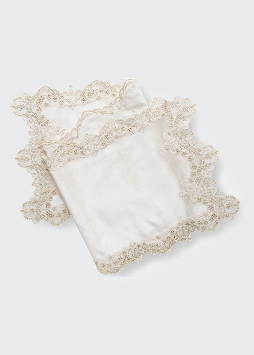 Nomi K Annabella Hand Embroidered Lace Table Runner