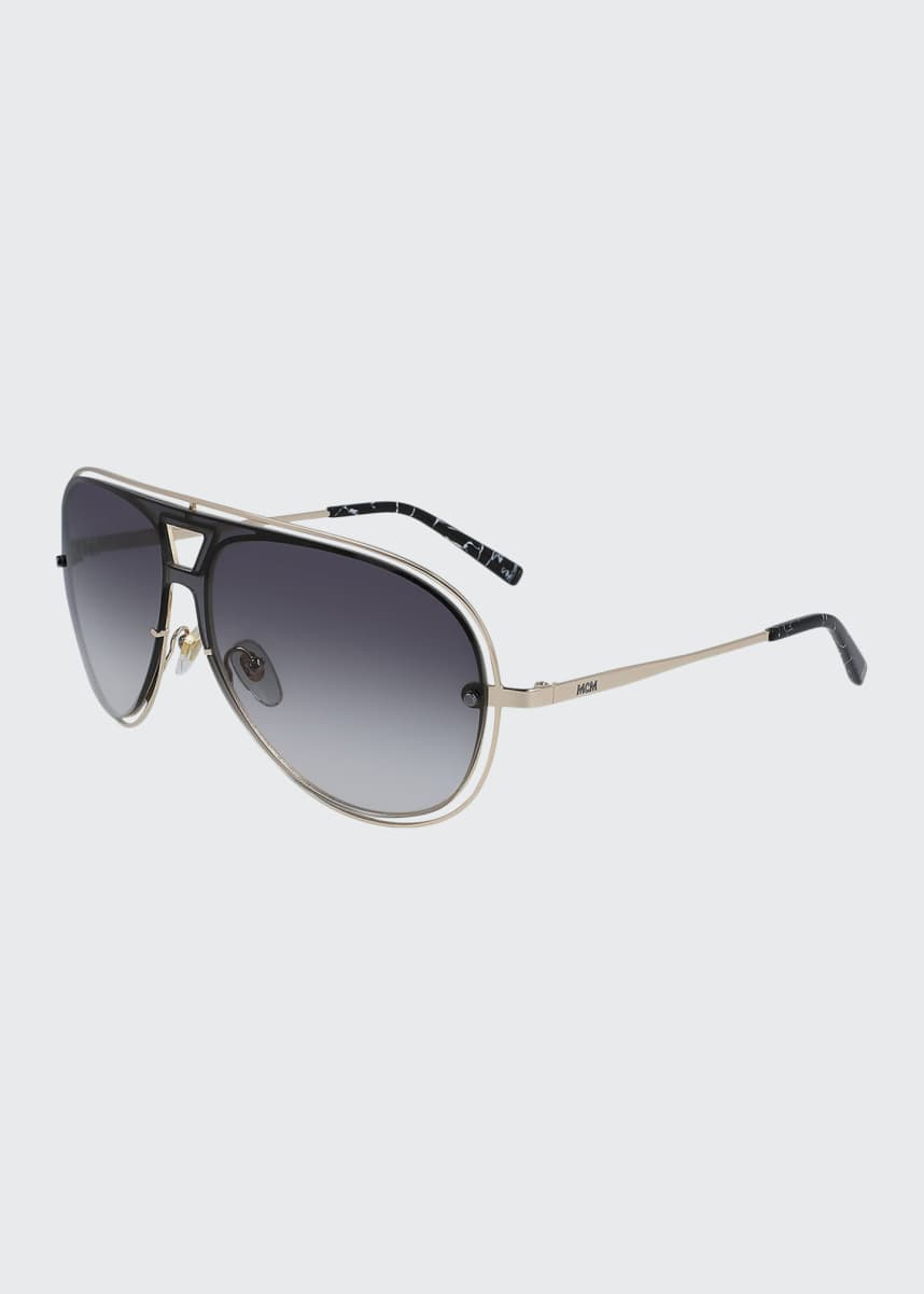 MCM Men's Outline Oversize Aviator Sunglasses
