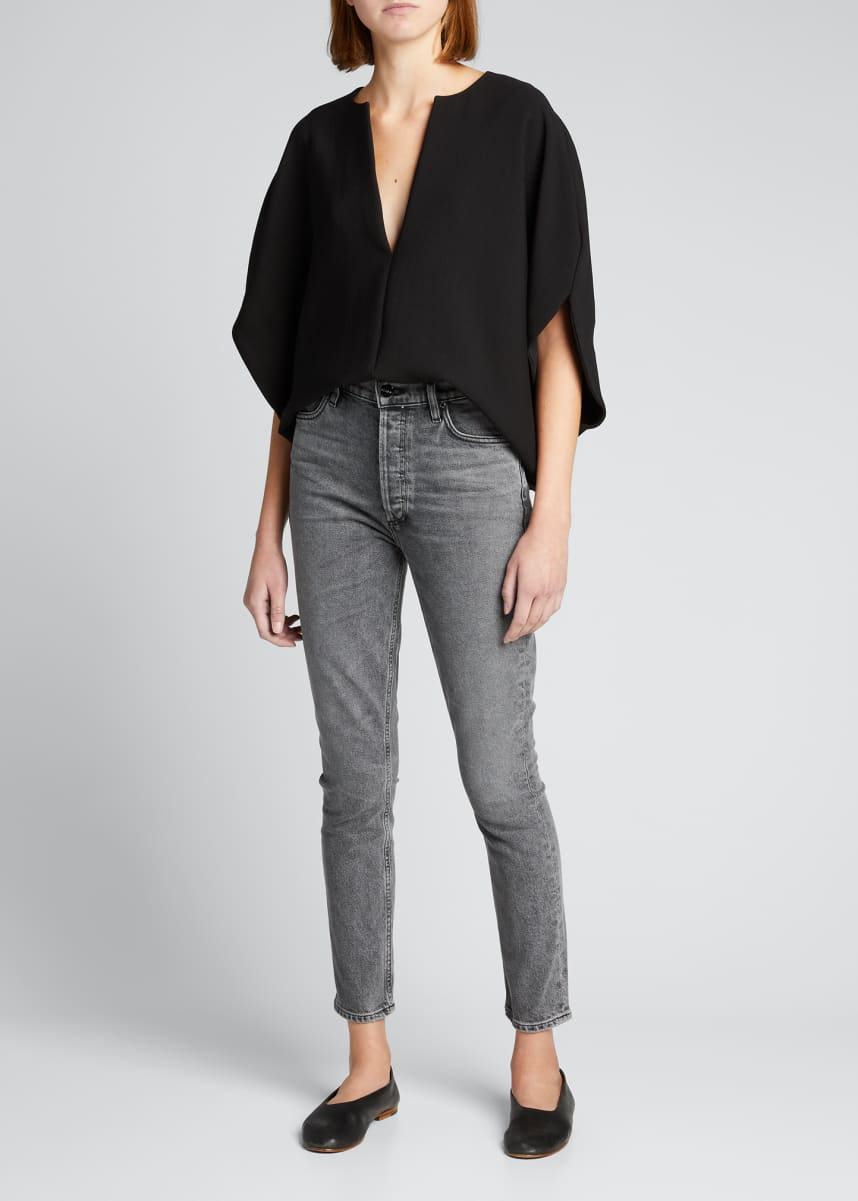 Goldsign The High-Rise Slim Ankle Jeans