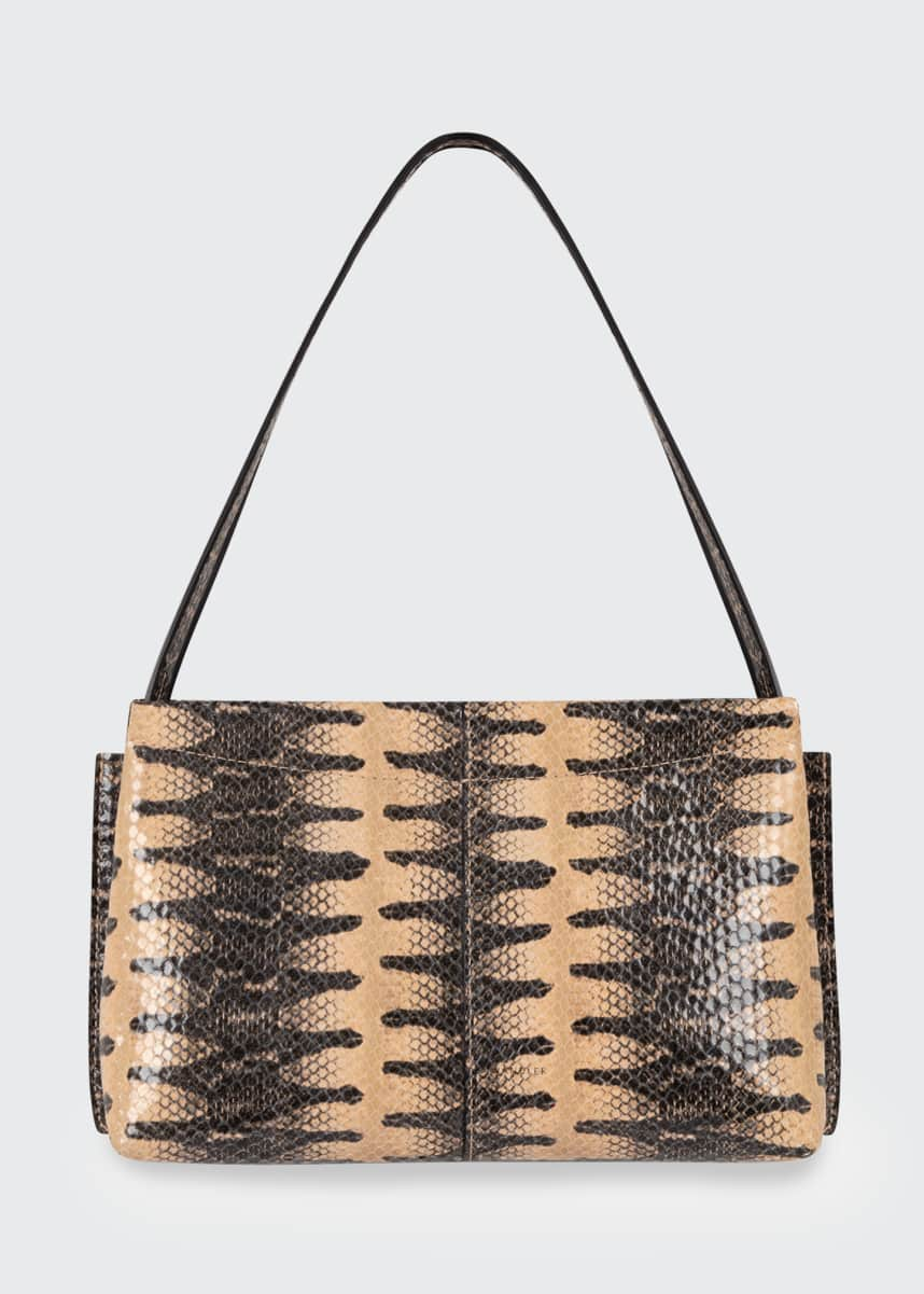 Wandler Carly Python-Print Mini Shoulder Bag