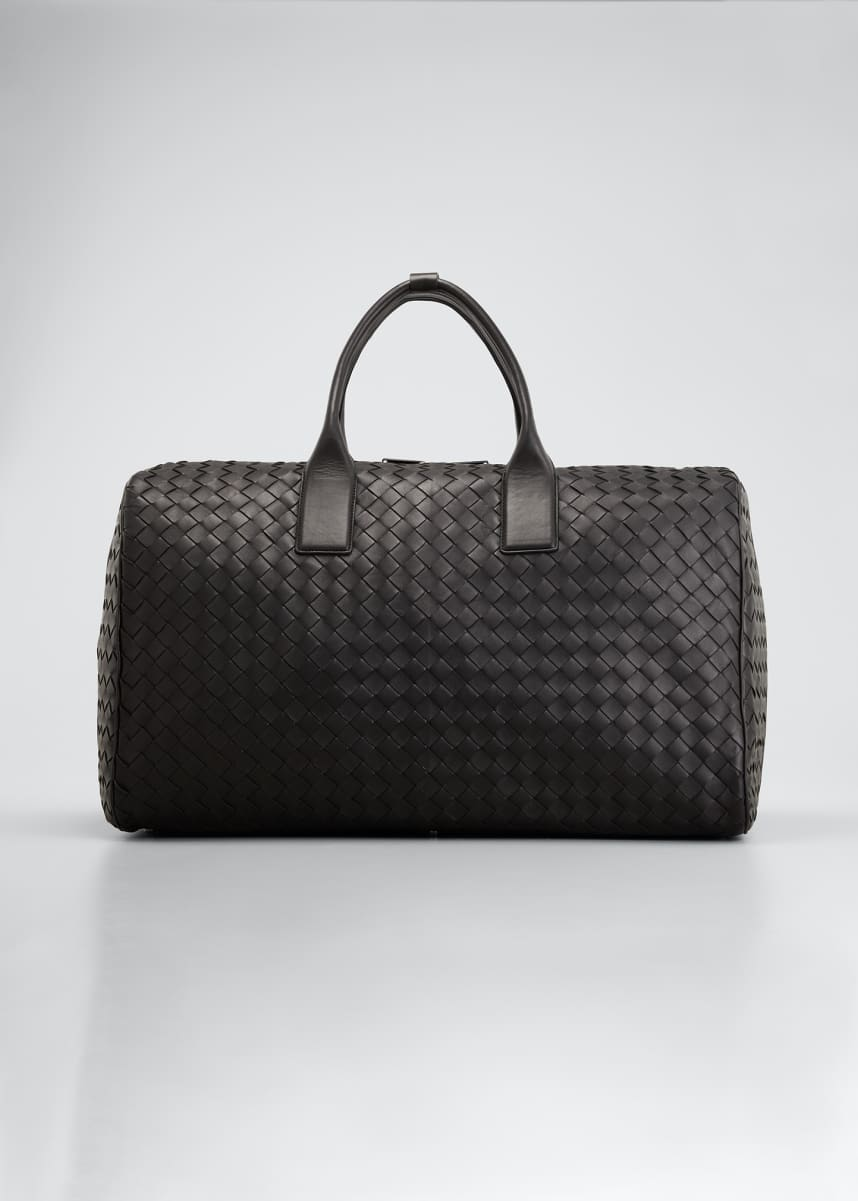 Bottega Veneta Men's Large Woven Lambskin Duffel Bag