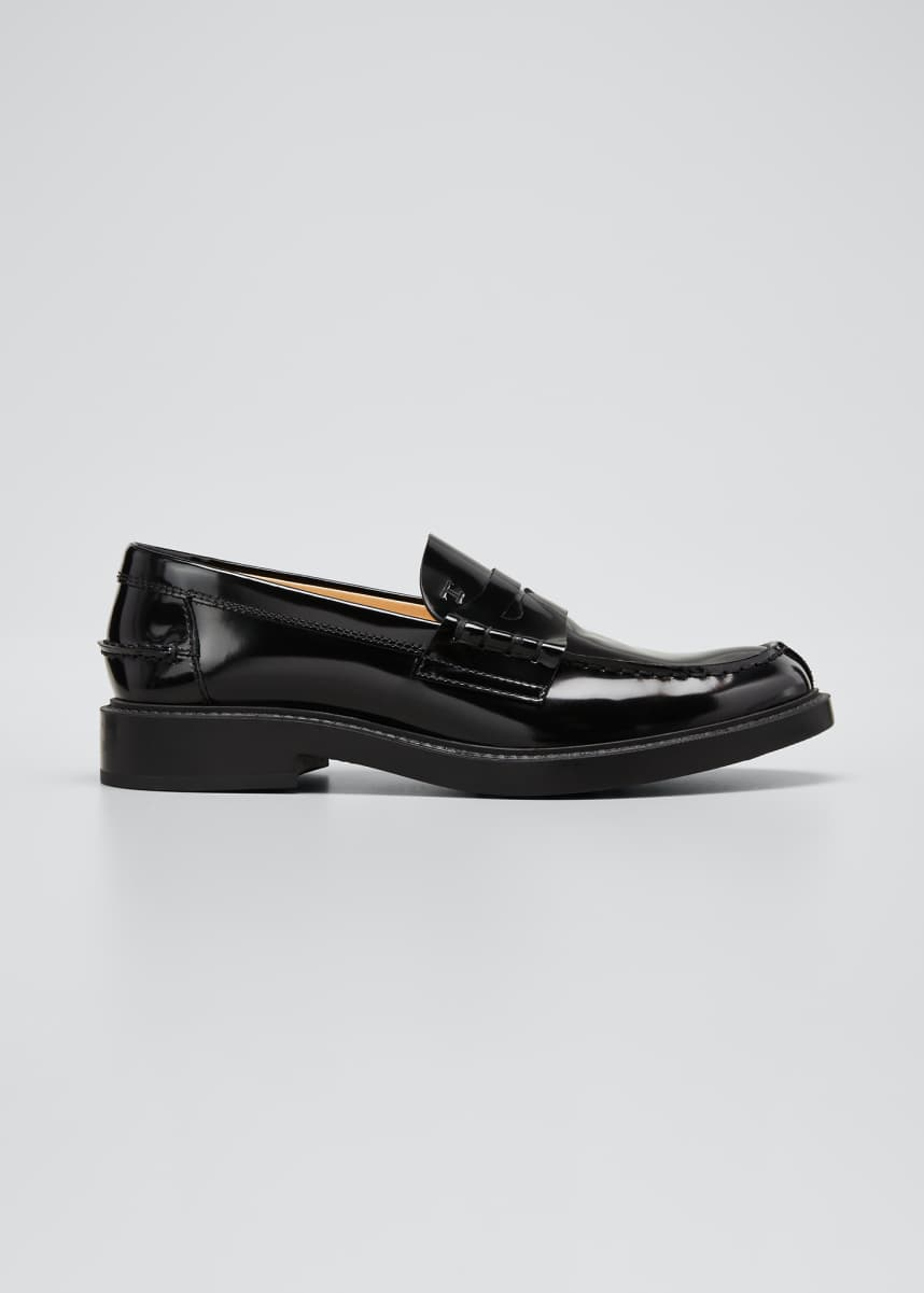 Tod's Patent Mocassino Penny Loafers
