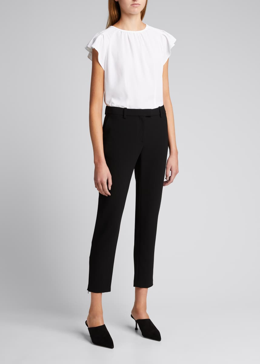 Altuzarra Henri High-Waist Cropped Pants