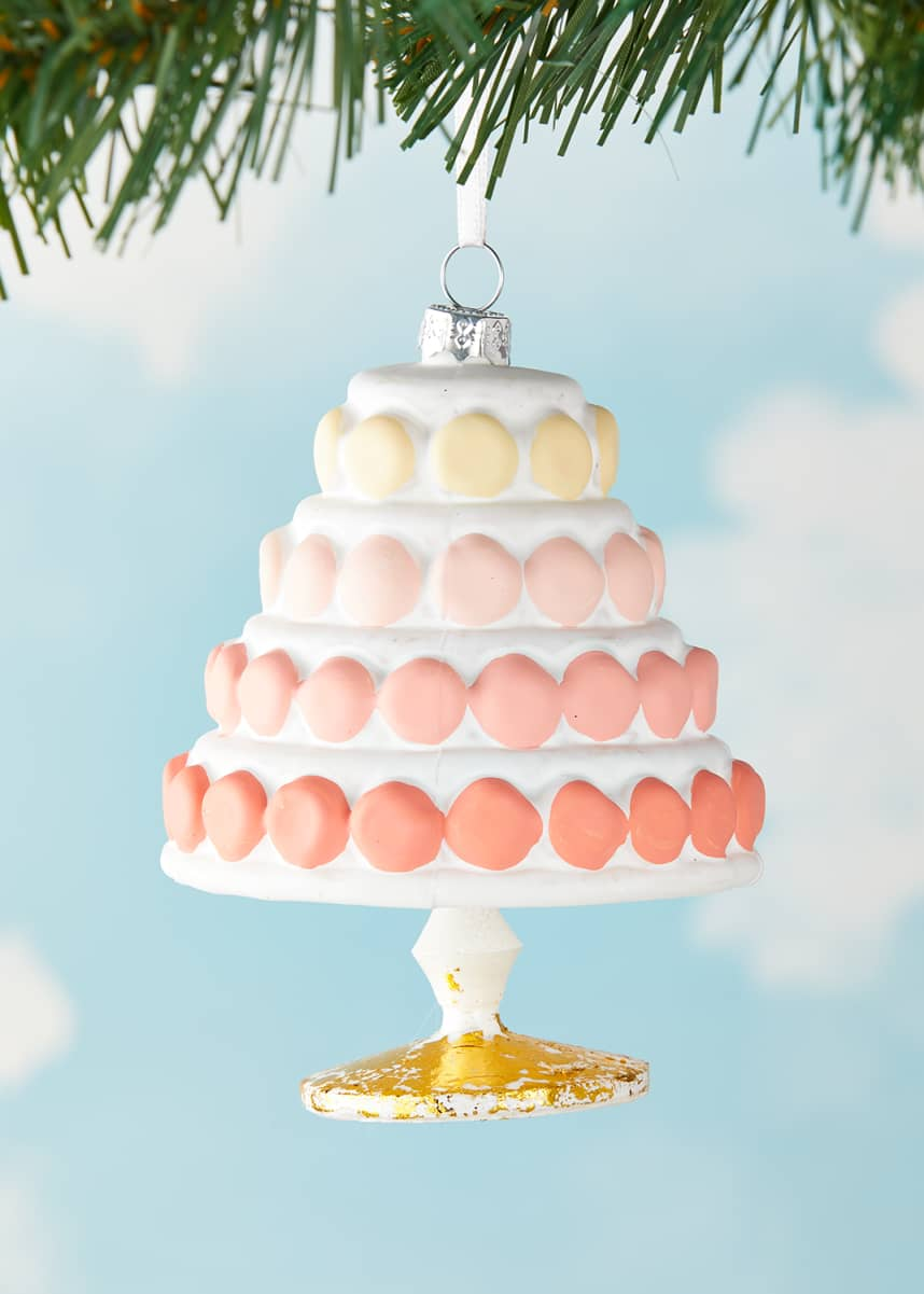 Cody Foster & Co Gradient Macaroon Cake Christmas Ornament