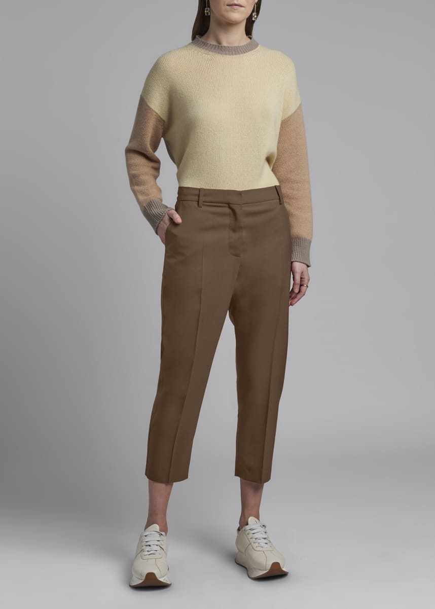 Marni Cropped Tropical Wool Trousers