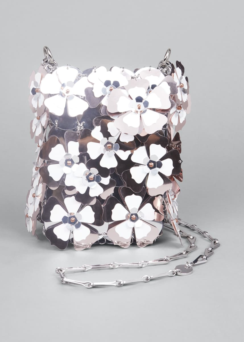 Paco Rabanne Floral Sequin Chain Shoulder Bag