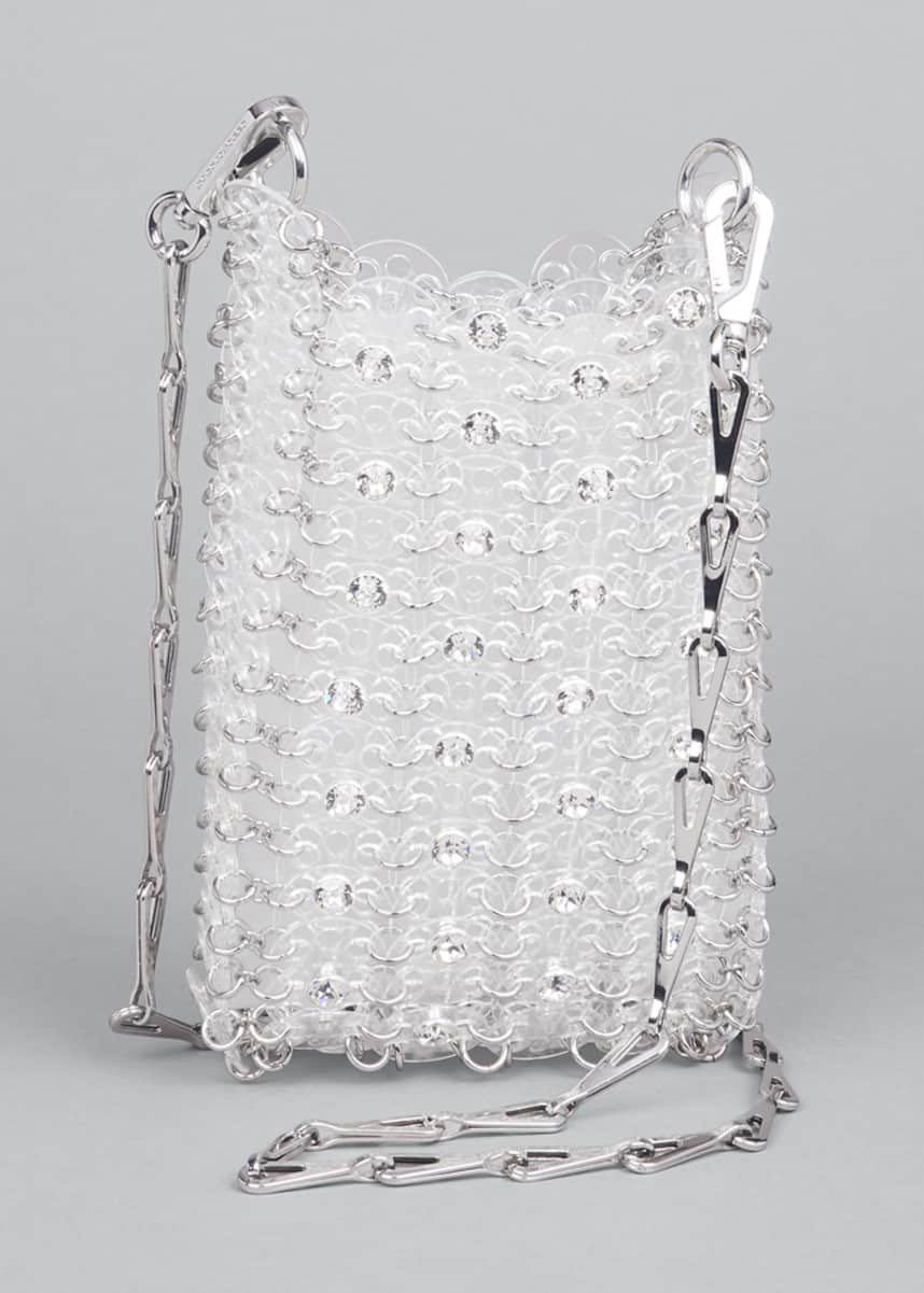 Paco Rabanne Clear Sequin Chain Shoulder Bag