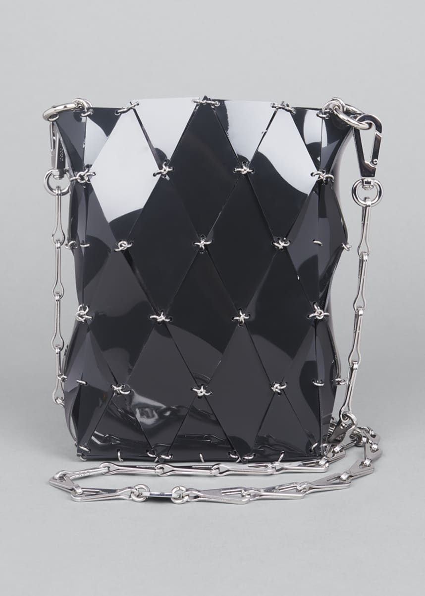 Paco Rabanne Diamond Vinyl Chain Shoulder Bag