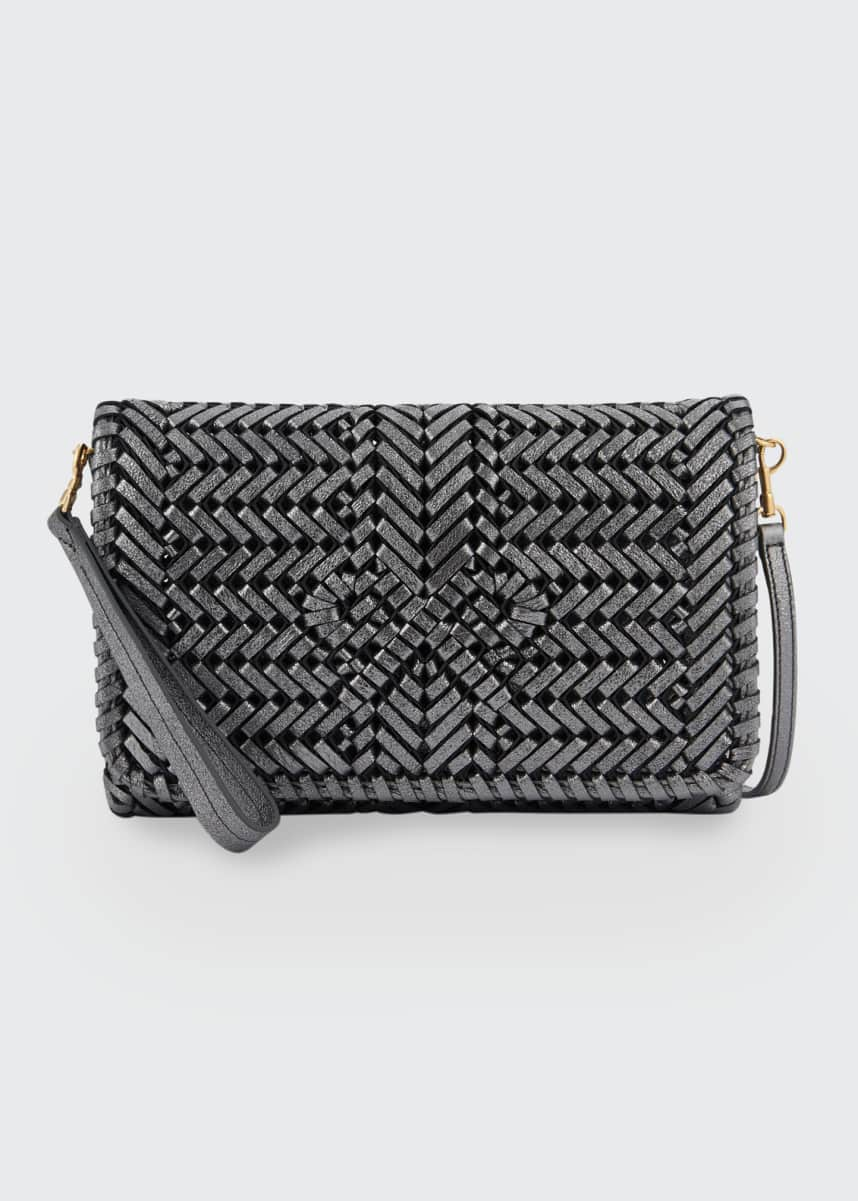 Anya Hindmarch The Neeson Crinkle Leather Crossbody Bag