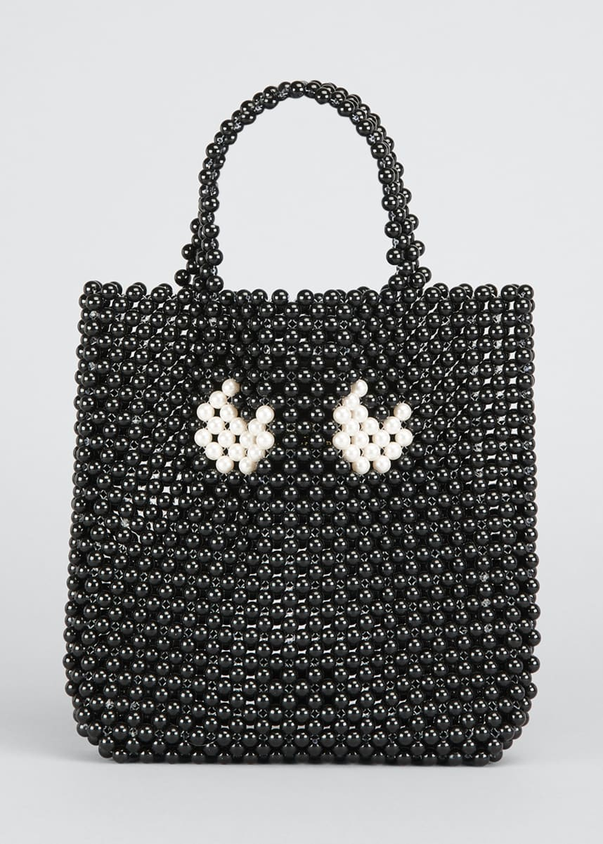 Anya Hindmarch Pearls Eyes Small Tote Bag