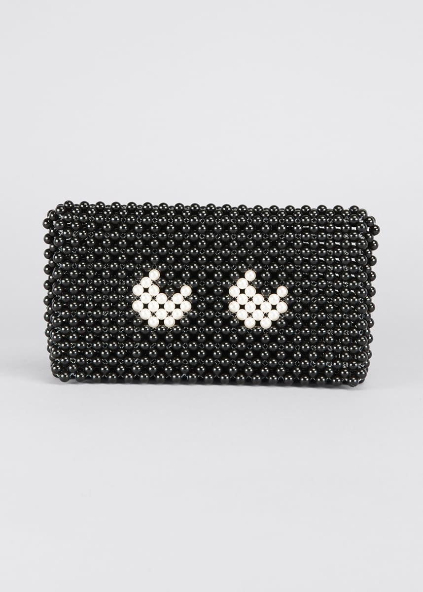 Anya Hindmarch Pearls Eyes Clutch Bag